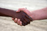 interracial handshake poster