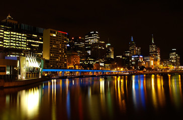 Melbourne Skyline at night