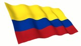 Colombia Animated Flag poster