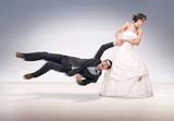 Bride abusing groom poster