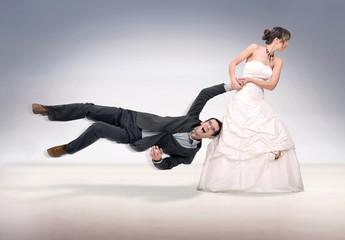 Bride abusing groom