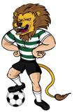 Soccer Lion mascot poster