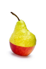 "Half-Aple-and-half-pear ""hybrid"""
