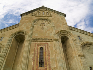 Front of Orthodox cathedral in Mtskheta