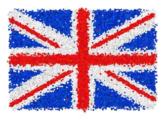 Bandiera della Gran Bretagna di coriandoli