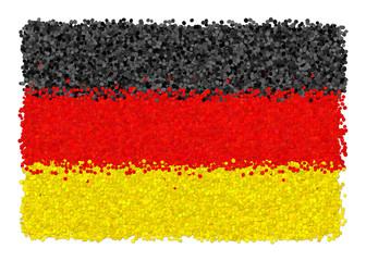 Bandiera della germania di coriandoli