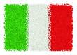 Bandiera dell'Italia di coriandoli