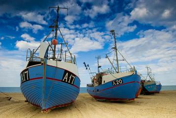 Fischerboote am Thorup Strand