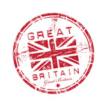 Great Britain rubber stamp poster