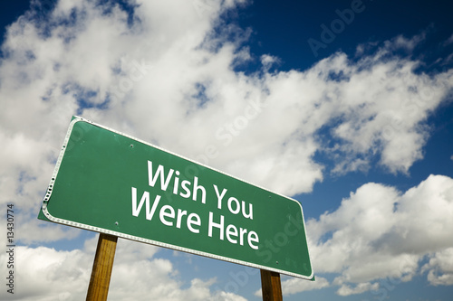 Poster Wish You Were Here Road Sign