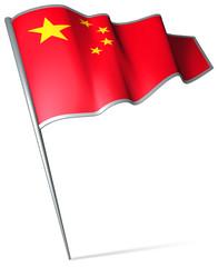 Flag pin - China