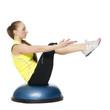 Detaily fotografie Fitness holka dělá pilates