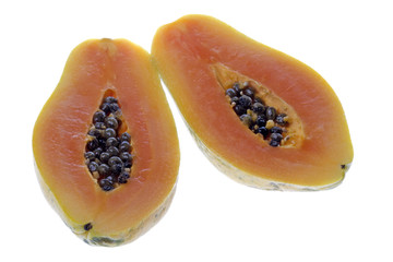 Sliced Papaya Isolated