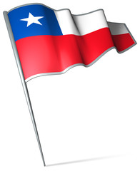 Flag pin - Chile
