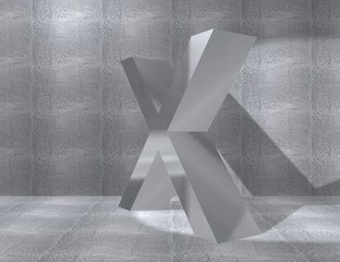 metal alphabet - X