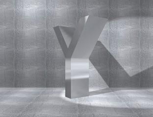 metal alphabet - Y