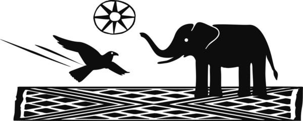 bird & elephant