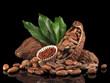 Kakaobohnen in der Schote