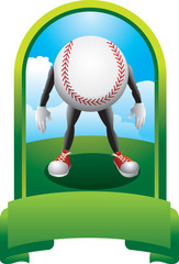 Baseball cartoon character trophy
