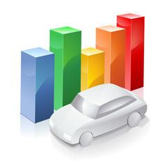 Statistiques sur le marché automobile (reflet)