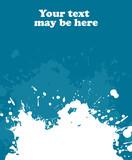 Blue blot, vector poster