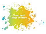 Color blot, vector poster