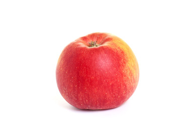 Ripe,tasty apple  on a white background.