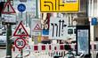 Leinwanddruck Bild - Straßenschilder