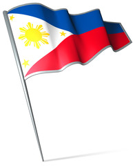Flag pin - Philippines