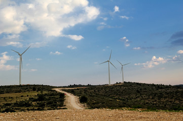 Wind turbines in a spanish landscape