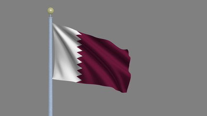 Flag of Qatar with alpha matte for easy isolation