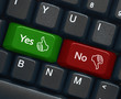 """Yes"" and ""No"" keys on keyboard"