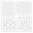 Jigsaw puzzle templates 5x6, 6x5, various cutting guidelines