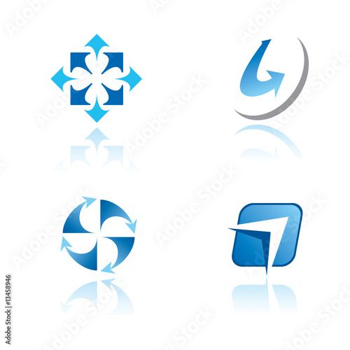 Set of graphic symbols  on abstract theme