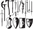 silhouettes of weapons - 13465144