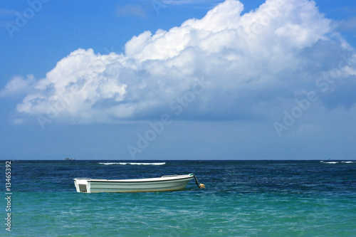 Boat on a tropical beach