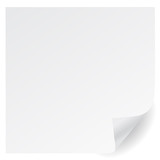 Fototapety white  page corner vector