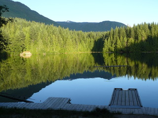 Campsite Lake British Columbia Canada