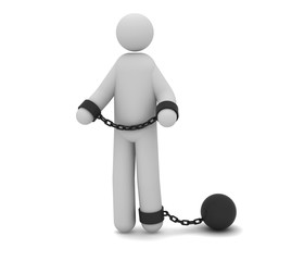 Man arrested with prison ball and chain