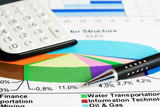 Stock market data analyzing. poster