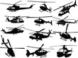 big collection of helicopters - vector - 13475349