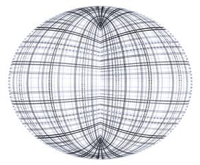 Stilisierter Globus (monochrom)