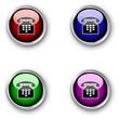 Glossy telephone icons
