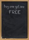 discount sale advertisement on blackboard in vertical poster