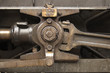 mechanical detail of steam train