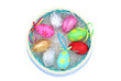 Basket with ornamental Easter Eggs