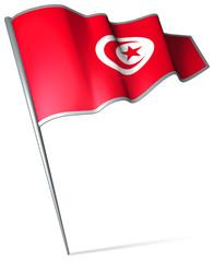 Flag pin - Tunisia