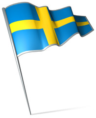 Flag pin - Sweden