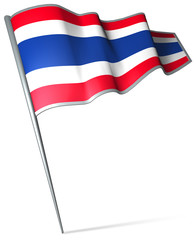 Flag pin - Thailand