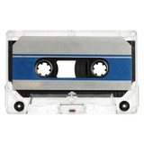 old audio cassette isolated on white